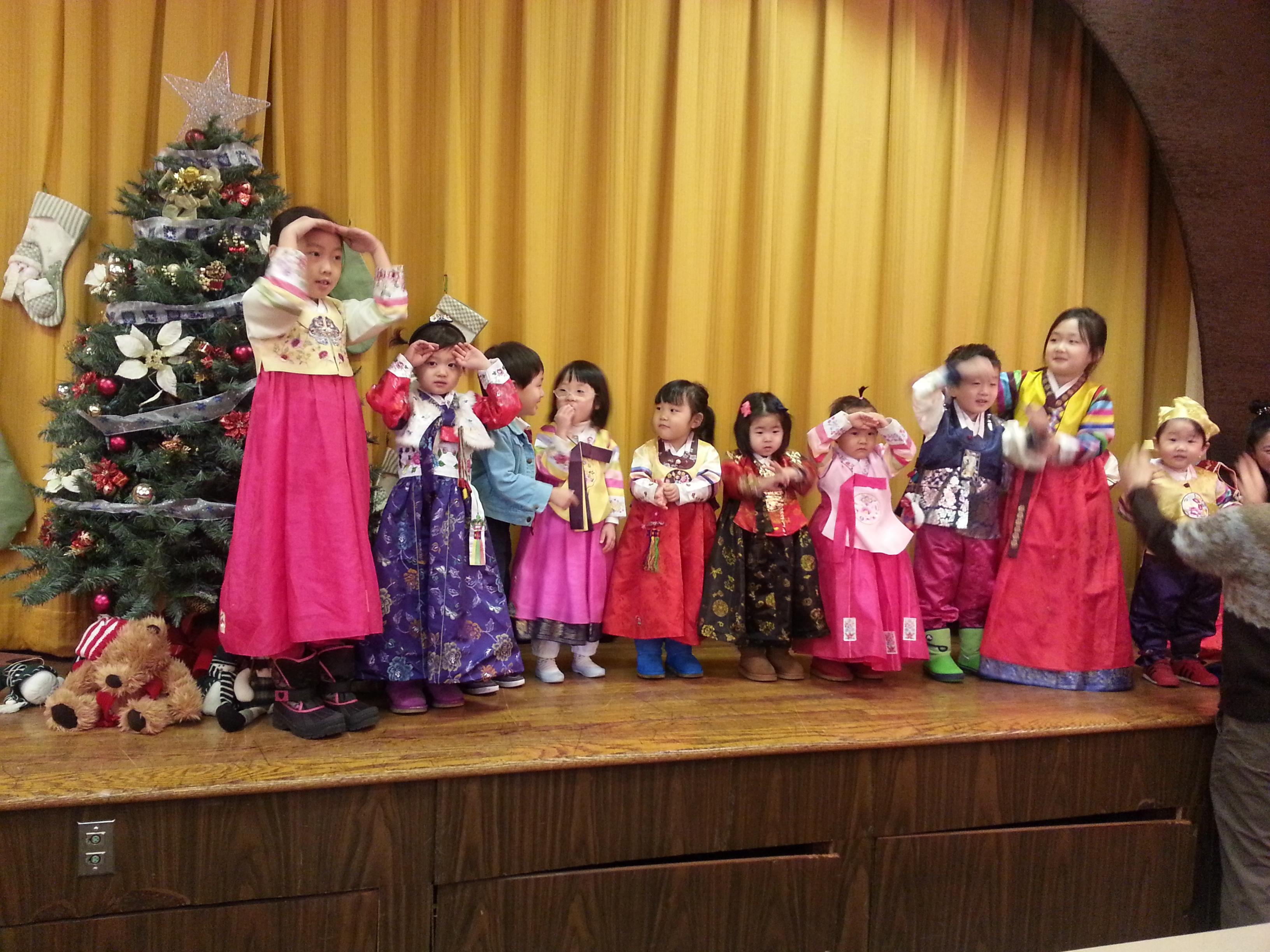 새해 첫 주일 – 유치부,초등부 세배(2014년1월5일)